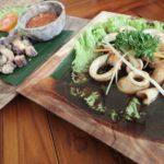 山の幸が豊富なウブドで人気レストラン【ワルン・ベパシ】であえて海の幸をいただきます。