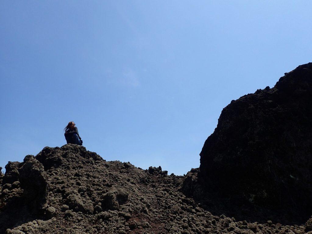 バトゥール山火口